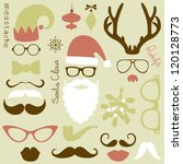 retro party set   santa claus... | Shutterstock .eps vector #120128773