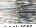 piled up documents prepared to check - stock photo