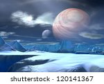 alien planet  computer artwork | Shutterstock . vector #120141367