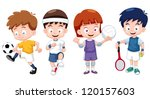 illustration of  cartoon kids... | Shutterstock .eps vector #120157603