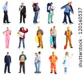 group of workers people set....   Shutterstock . vector #120160537