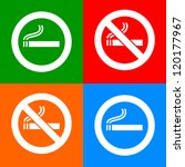 stickers colorful   no smoking... | Shutterstock .eps vector #120177967