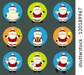 set of santa claus | Shutterstock .eps vector #120189967