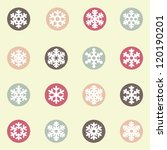 Snowflakes icon collection - stock vector