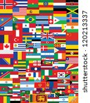 world flags background   Shutterstock . vector #120213337