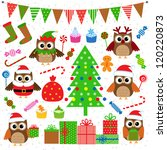 Vector Set Of Christmas Party...