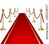 red carpet with guard. clipping ... | Shutterstock .eps vector #120224017