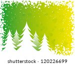 Vector illustration. Christmas trees. - stock vector