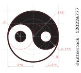 scheme for drawing of yin and...   Shutterstock .eps vector #120226777