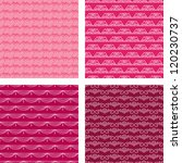 seamless doodle pattern set red | Shutterstock .eps vector #120230737