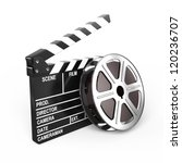 film and clap board   video icon | Shutterstock . vector #120236707