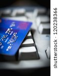 Credit card for online shopping - stock photo