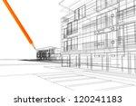 3d linear exterior   Shutterstock . vector #120241183