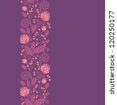 purple flowers and berries... | Shutterstock .eps vector #120250177