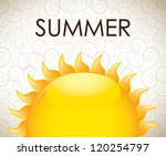 summer icon over vintage... | Shutterstock .eps vector #120254797