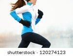 Running Athlete Woman Sprintin...