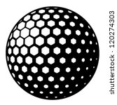 vector golf ball symbol   Shutterstock .eps vector #120274303