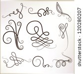 vintage curly elements. vector... | Shutterstock .eps vector #120280207