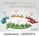 template for advertising... | Shutterstock .eps vector #120295573