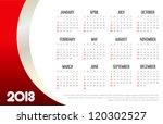 2013 Business Calendar - stock vector