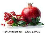 pomegranate isolated on the... | Shutterstock . vector #120312937