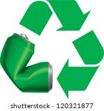 green recycle logo icon with... | Shutterstock .eps vector #120321877