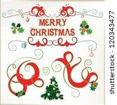 christmas elements  vector set | Shutterstock .eps vector #120343477