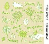 eco friendly vector set | Shutterstock .eps vector #120354013