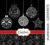 black and white christmas... | Shutterstock .eps vector #120355873
