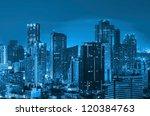 landscape bangkok city modern... | Shutterstock . vector #120384763