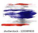 the thai flag painted on white... | Shutterstock . vector #120389833