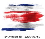 the costa rica flag painted on... | Shutterstock . vector #120390757