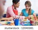 elementary school art class... | Shutterstock . vector #12040381
