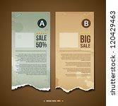 Vintage Ripped paper for business design background, vector illustration