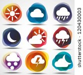 weather icons set. eps10. image ... | Shutterstock .eps vector #120430003