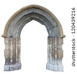 A Gothic Arch isolated on white background - stock photo