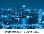 landscape bangkok city modern... | Shutterstock . vector #120457363