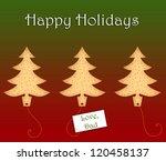 holiday cookies | Shutterstock . vector #120458137