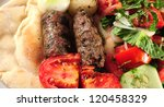 Shish kebab. - stock photo