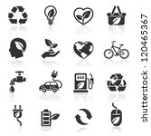 Ecology Icons Set1. Vector...