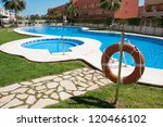 Two swimming pools - stock photo