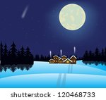illustration to moon night and... | Shutterstock . vector #120468733