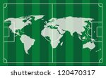 soccer field with white lines... | Shutterstock .eps vector #120470317