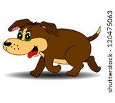 running dog | Shutterstock .eps vector #120475063