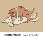 erotic couple dogs version 2.... | Shutterstock .eps vector #120478027