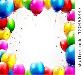 colorful birthday background | Shutterstock .eps vector #120493447