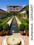 Small photo of Patio de la Acequia of Generalife, Granada, Spain