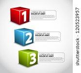 one two three cube progress... | Shutterstock .eps vector #120523957