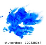 blurred spot of blue paint - stock photo