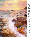 sunset by the beach   Shutterstock . vector #120545563